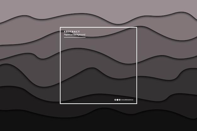 Fondo de capa de degradado negro papercut aislado realista para decoración y revestimiento. concepto de plantilla de diseño abstracto geométrico.