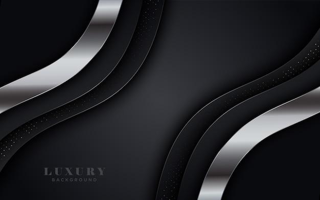 Fondo de capa de plata y negro de lujo.