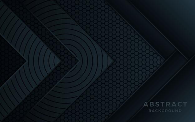 Fondo de capa de superposición de flecha abstracta negra.