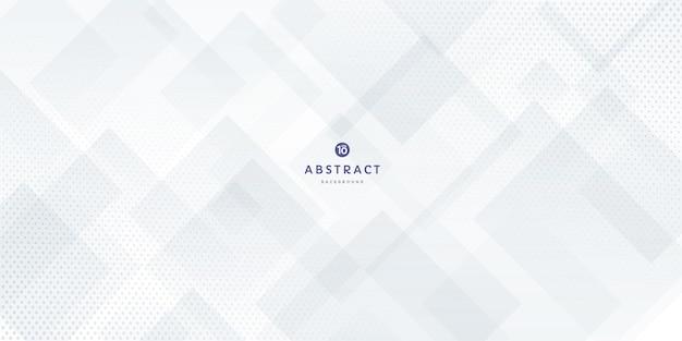 Fondo de capa superpuesta de forma cuadrada geométrica moderna blanca y gris suave abstracta