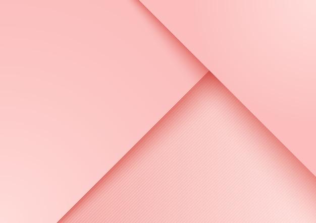 Fondo de capa superpuesta de papel rosa