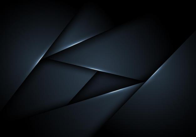 Fondo de capa superpuesta de rayas azul oscuro abstractas. ilustración vectorial