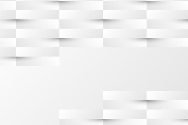 Fondo de capas blancas en estilo de papel 3d