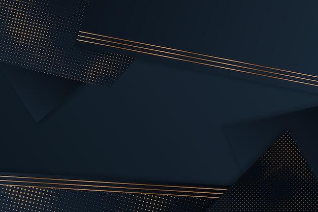 Fondo de capas de papel oscuro con diseño de detalles dorados