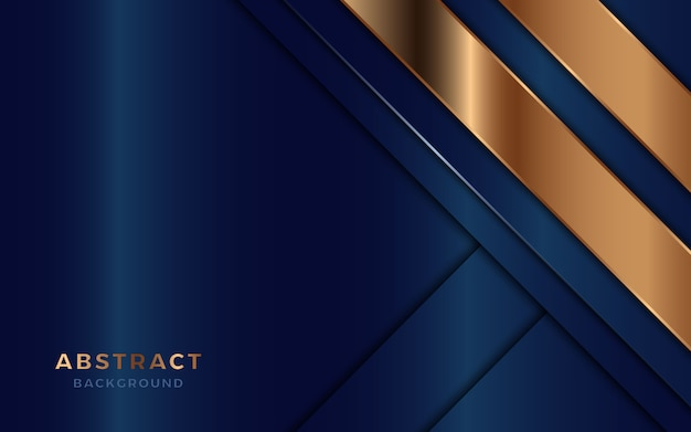 Fondo de capas de superposición abstracta de lujo con decoración dorada.