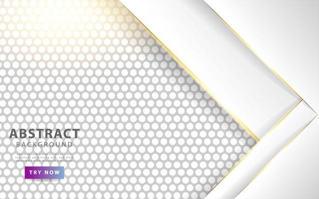 Fondo de capas de superposición blanca moderna.