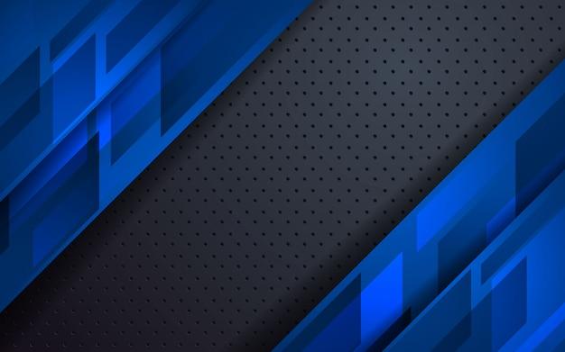 Fondo de capas superpuestas azul