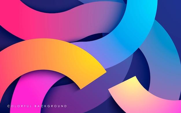 Fondo de capas superpuestas moderno colorido