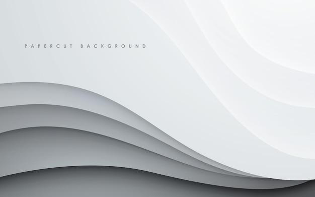 Fondo de capas superpuestas onduladas blancas abstractas