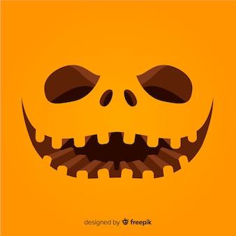 Fondo de cara de calabaza de halloween