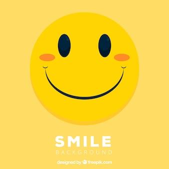 Fondo de cara sonriente amarilla