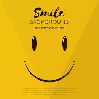 Fondo de carita sonriente en diseño plano