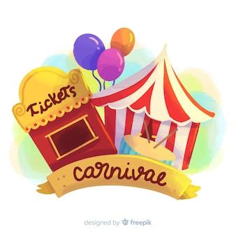 Fondo de carnaval en acuarela