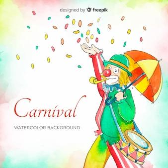 Fondo de carnaval de acuarela
