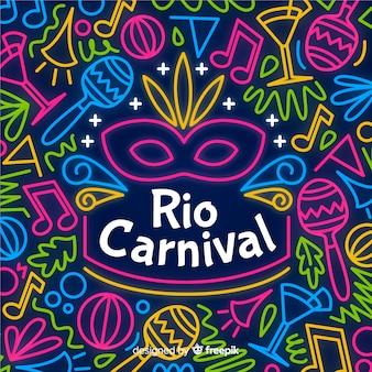 Fondo de carnaval de brasil en diseño plano