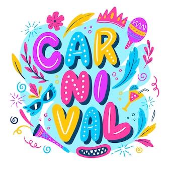 Fondo de carnaval brasileño dibujado a mano