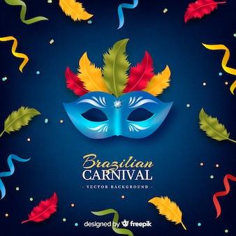 Fondo carnaval brasileño máscara colorida