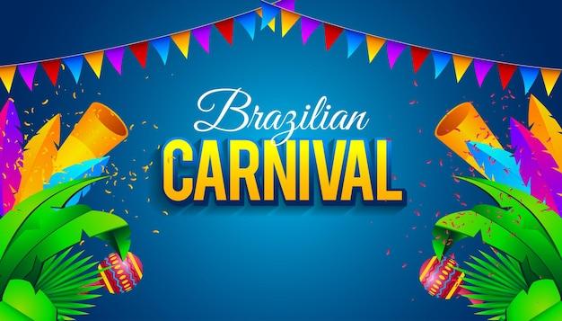 Fondo de carnaval brasileño