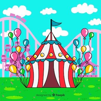 Fondo de carnaval dibujado a mano