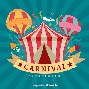 Fondo de carnaval en diseño plano