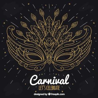 Fondo de carnaval elegant negro y dorado