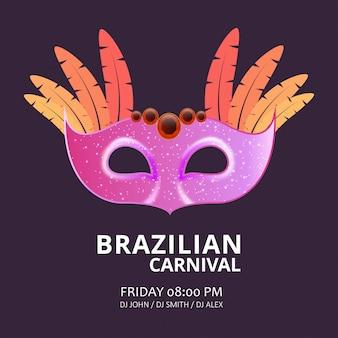 Fondo carnaval festivo máscara
