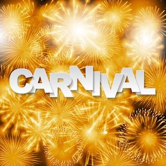 Fondo de carnaval con fuegos artificiales.