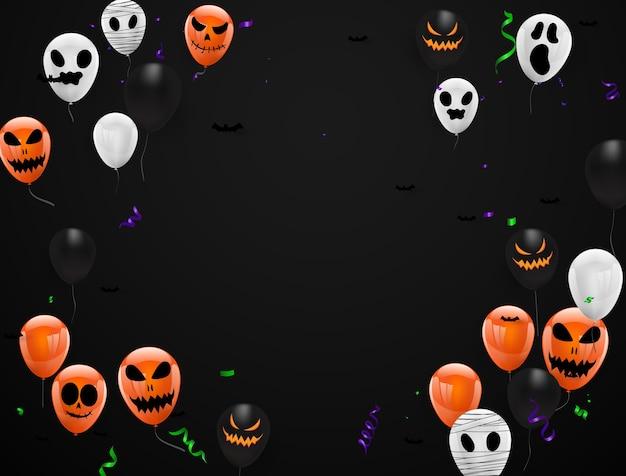 Fondo del carnaval de halloween, fiesta de diseño de concepto,