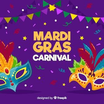 Fondo de carnaval de mardi gras