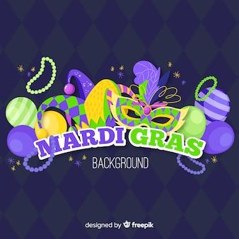 Fondo de carnaval mardi gras