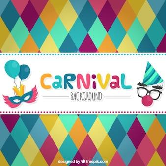 Fondo de carnaval de rombos Vector Premium