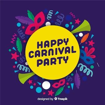 Fondo de carnavales en diseño plano
