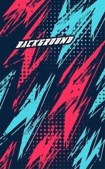 Fondo de carreras abstracto con textura grunge