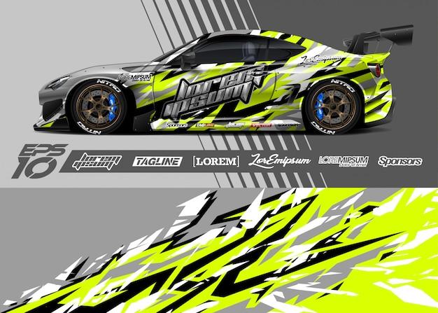 Fondo de carreras para envoltura de automóviles