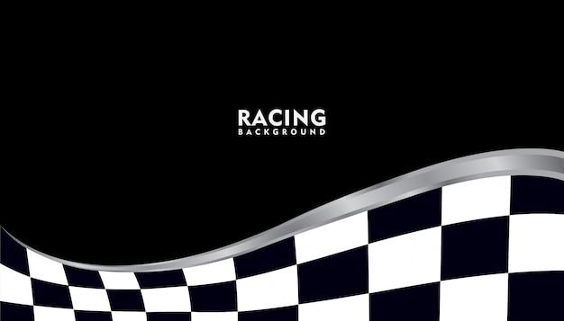 Fondo de carreras metálico plateado realista, fondo cuadrado de carreras