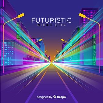 Fondo carretera ciudad futurista