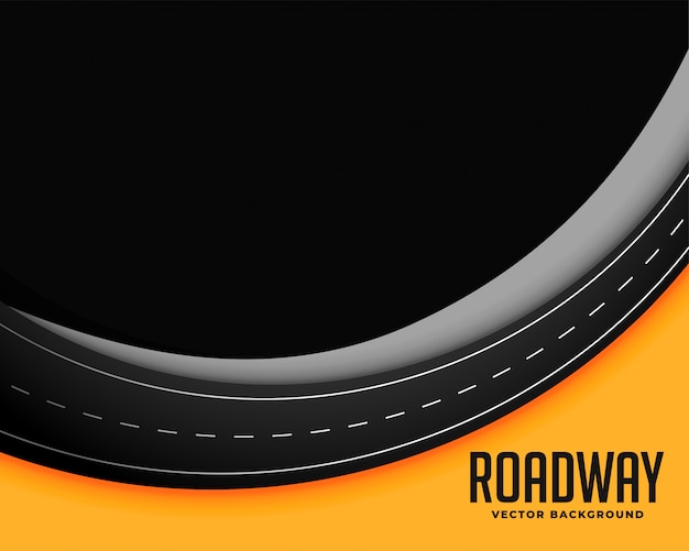 Fondo de carretera con espacio de texto