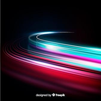Fondo carril luz velocidad