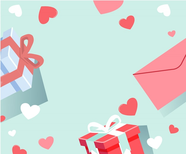 Fondo con carta de amor