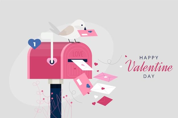Fondo de cartas de san valentín