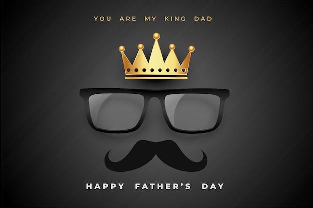 Fondo de cartel de concepto de día de padres de rey papá