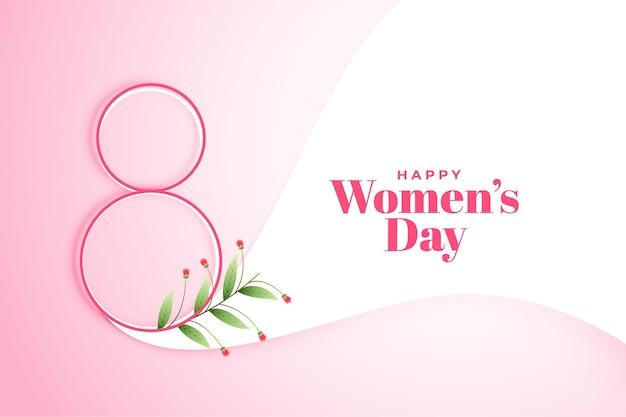 Fondo de cartel de feliz día de la mujer 8 de marzo