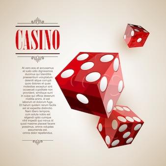 Fondo del cartel del logotipo del casino o folleto