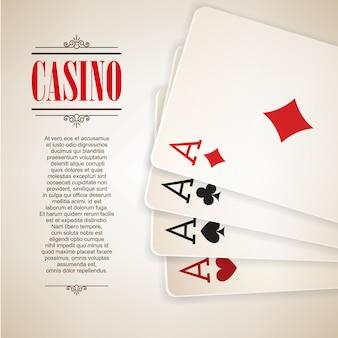 Fondo del cartel del logotipo del casino