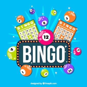 Fondo de cartel luminoso de bingo