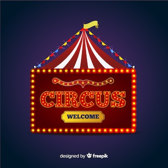 Fondo de cartel luminoso de circo