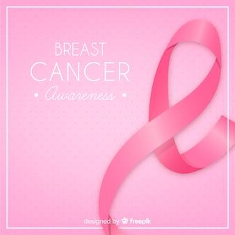 Fondo de cartel de mes de concientización sobre el cáncer de mama