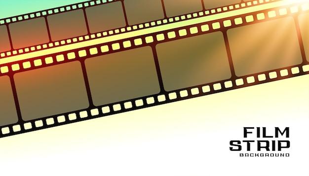 Fondo de cartel de moview de tira de película