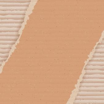 Fondo de cartón corrugado. papel pintado de cartón rasgado.