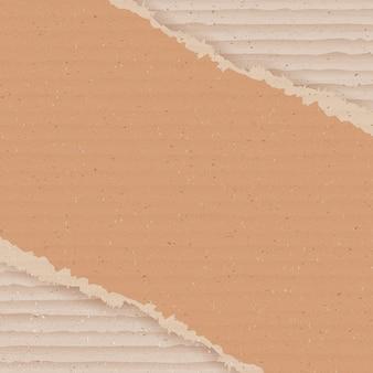 Fondo de cartón corrugado. papel pintado de cartón rasgado